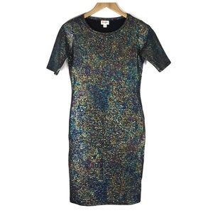 LulaRoe Julia Dress Bodycon Sparkle XS